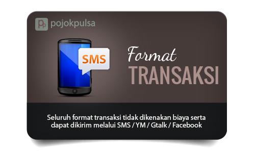 format transaksi pulsa murah