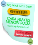 Lomba Blog Pojok Pulsa Maret – Mei 2013 (CLOSED)