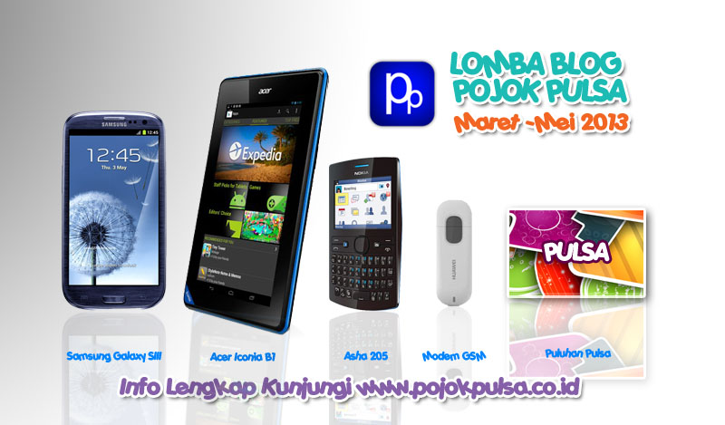 Lomba Blog Pojok Pulsa 2013